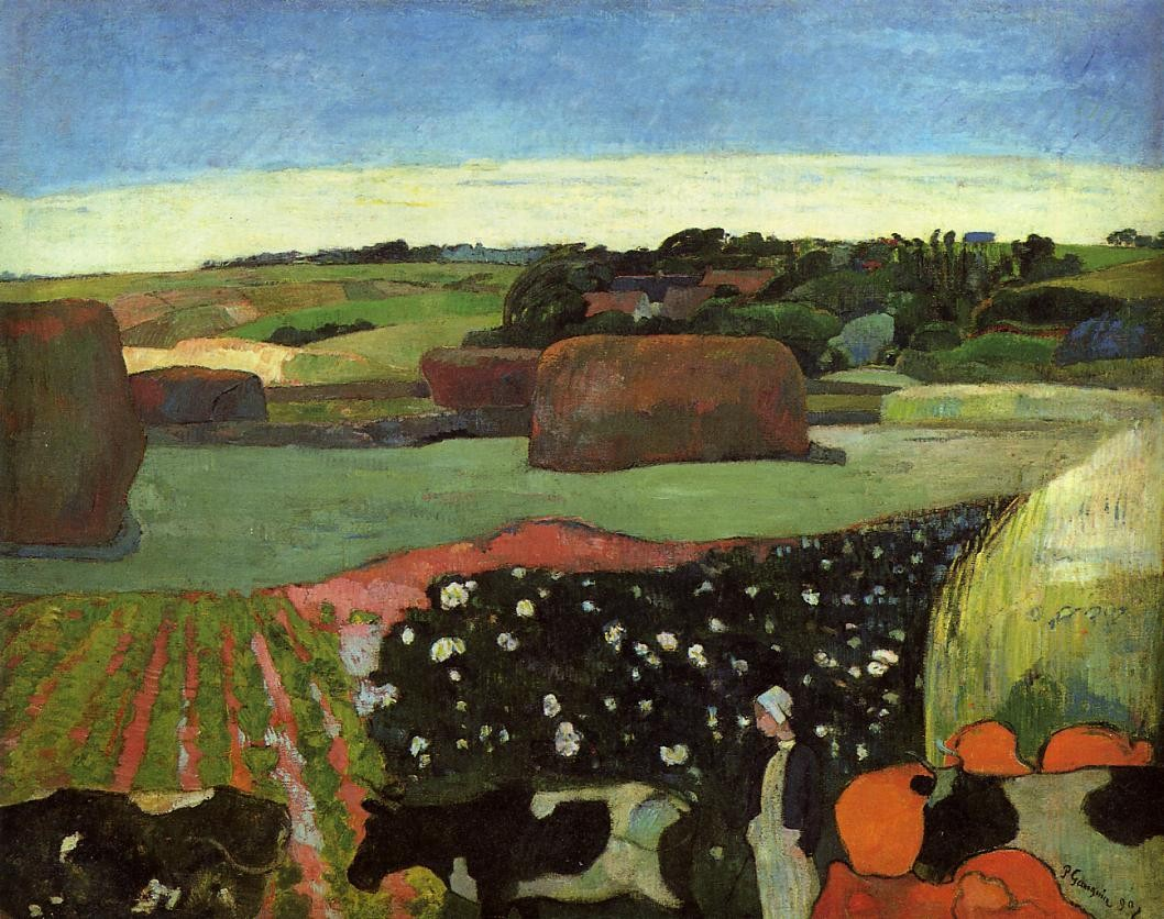 Haystacks in brittany 1890 the national gallery of art wa